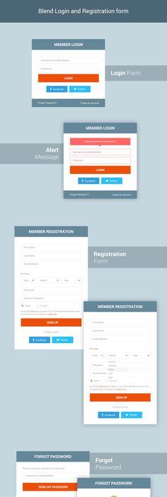 Psd Web Design   Registration Form Templates  Ui Inspiration