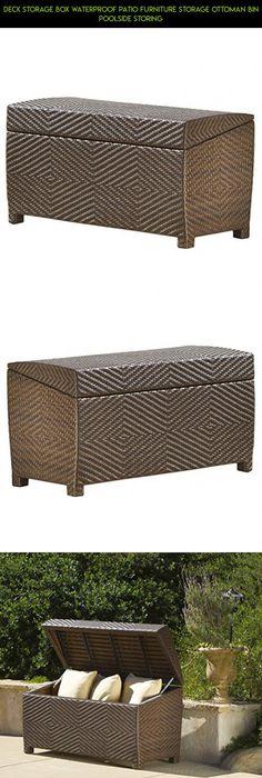 Deck Storage Box Waterproof Patio Furniture Storage Ottoman Bin Poolside  Storing #parts #storage #