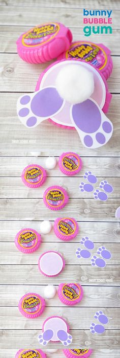 Peeps easter gift idea with free printables free printable gift how to make bunny bubble gum using bubble tape gum a cute diy easter gift negle Choice Image