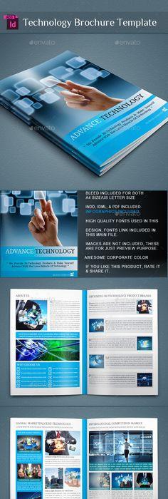 Technology Brochure Catalog Template #design Download