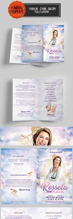 Funeral Program Bundle Funeral, Brochures and Brochure template