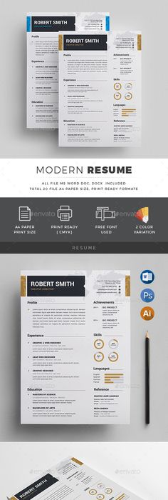 Modern Microsoft Word Resume And Cover Letter Template  Khalida
