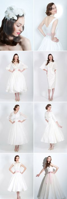 1950\'s Long White Silk & Sequins Wedding Gown: We were so excited ...