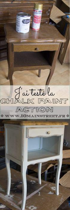 Ju0027ai testé la Chalk pain Action comme sous-couche sur la commode