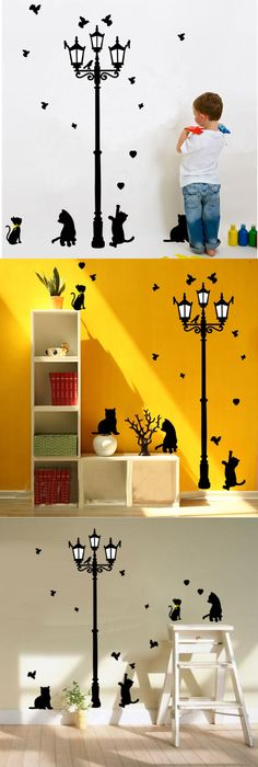 Street Lamp and Bike Wall Sticker | Festival Wall Stickers ...