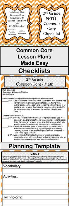 Grade 1 Pre-school, Common cores and Lesson plan binder