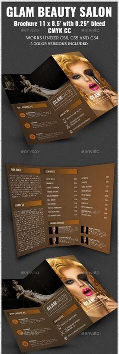 Spa  Beauty Salon Tri Fold Brochure  Tri Fold Brochure Tri Fold