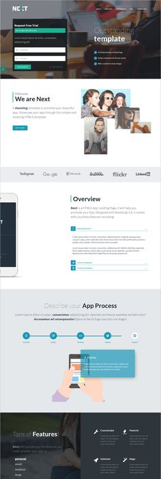 API apps landing page HTML template that you can use for app, app ...