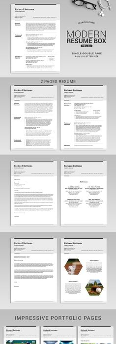 Floral 1 page resume template Template and Professional resume - 2 page resume template