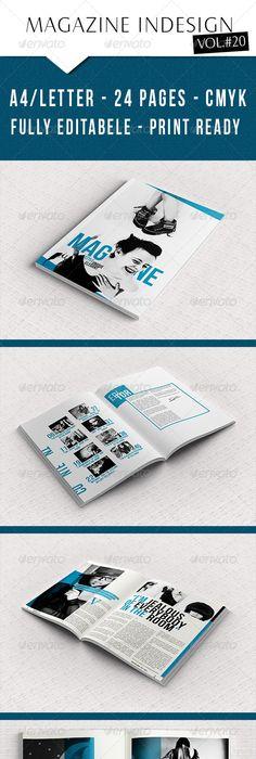 Iconoclastic 48+ Page Magazine Template #GraphicRiver Iconoclastic ...