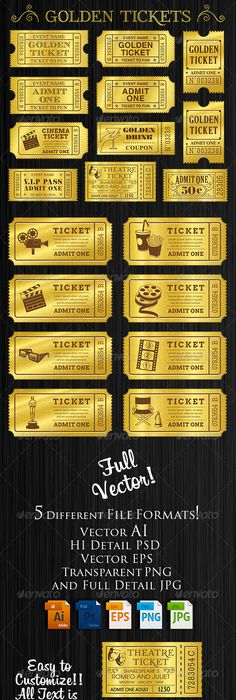 Event Ticket Template by For-Certain | cute stufff | Pinterest ...