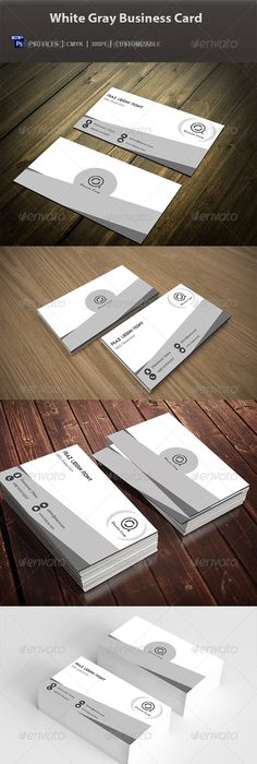 Modern clean business card business cards business and creative buy white gray business card by graphicsdesignstudio on graphicriver white gray business card for almost any kind of company or even personal use reheart Choice Image