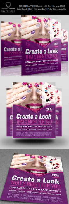 Beauty Salon Flyer Template Psd  Free Flyer Templates Flyer