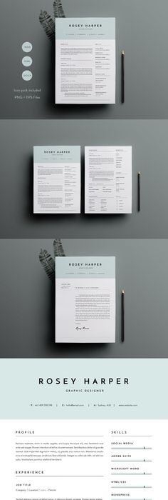 Pages Templates Resume Resume Template For Word 3 Pageresume Templates  Resume .