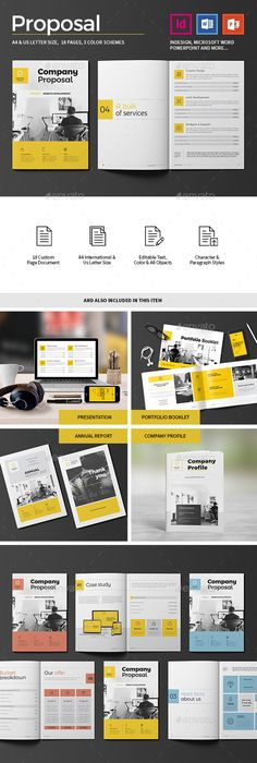 Proposal Layouts Proposal — Indesign Indd #branding #modern  Available Here ➝ Https .