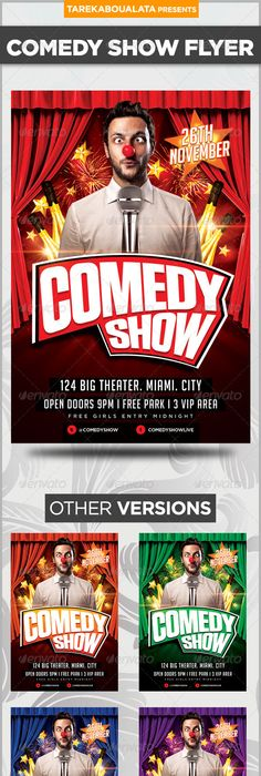 Comedy Show Flyer  Event Flyers Psd Flyer Templates And Font Logo