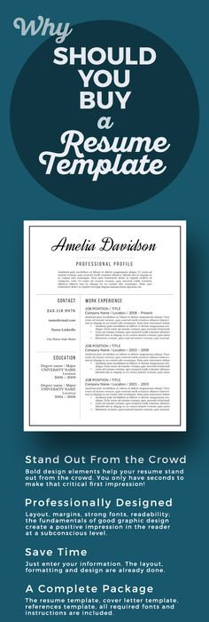 Margins For Resume Modern Resume Template For Word 13 Page Resume  Cover Letter  .