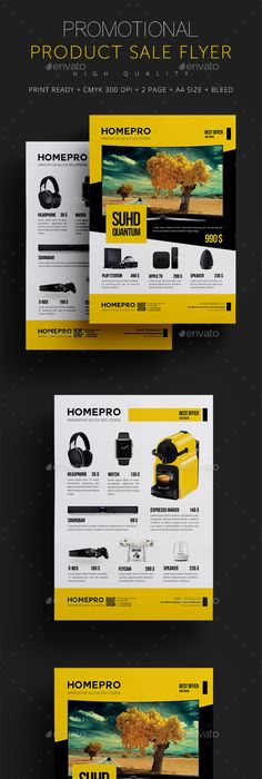 Multiuse Modern Product Flyer By Saptarang Via Behance Projects