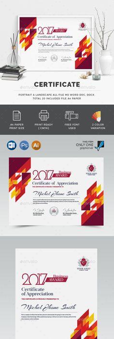 Modern Certificate 03 Psd Template Minimalist Modern Download