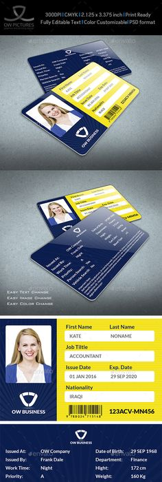 Employee Badge Template   Employee Card Template