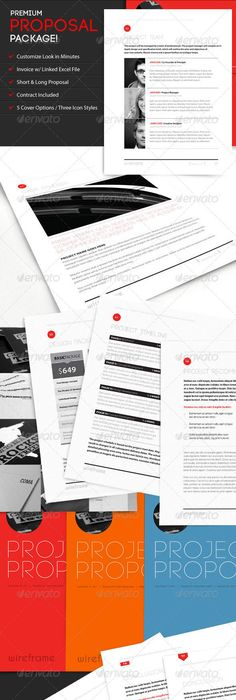 Icon Proposal Template w/ Invoice  Contract Proposal templates