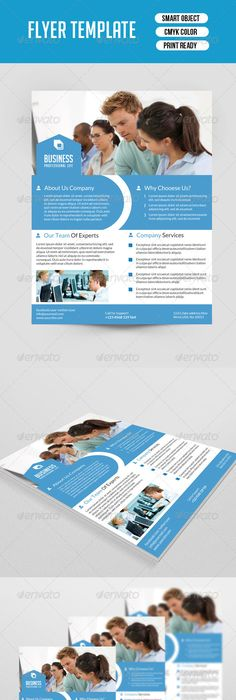 Azure Flyer Template Download Flyer Template Business Brochure