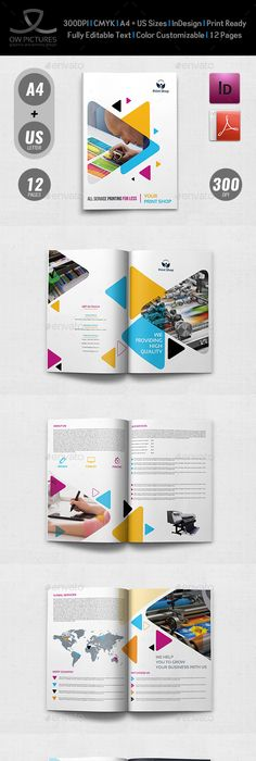 Annual Report Brochure 14 Page Annual Reports Brochures And Template