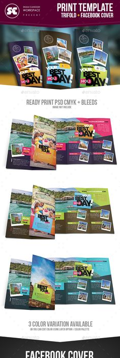 Tri Fold Brochure Template Travel Agency  Simple TriFold Best