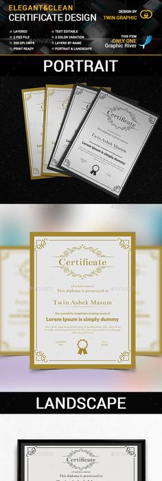 Certificate templates 7 02 diploma frames pinterest elegant clean certificate yelopaper Image collections