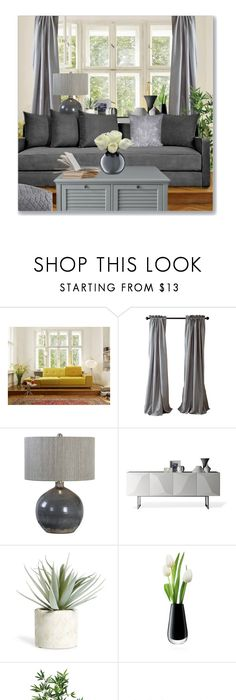 Simple Grey By Leanne Mcclean Liked On Polyvore Featuring Polder Uttermost JaipurModern HomesInterior