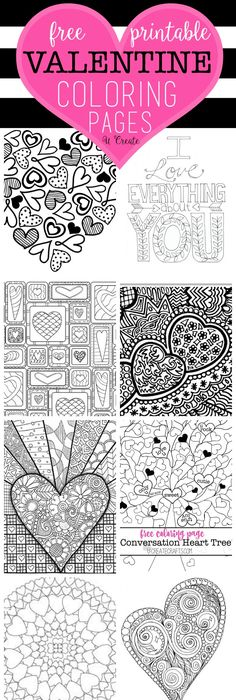Valentine\'s Day Coloring Pages eBook: I Love You | Free printable ...