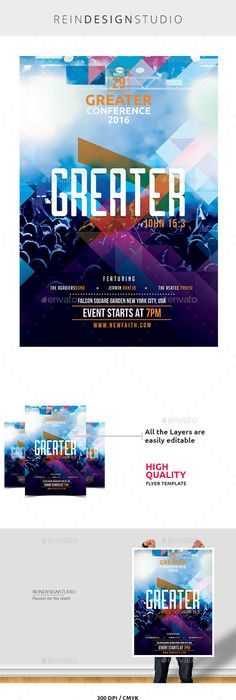 Hillsong Conference Flyer  Event Flyers Layouts And Graphics