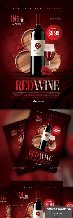 Wine A4 Flyer Template Flyer Template A4 And Psd Templates
