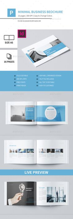 Landscape Brochure  Annual Report  Template  Inspired Design