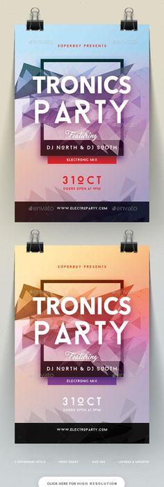 Summer Dance Party Flyer Tempalte Design Download Http