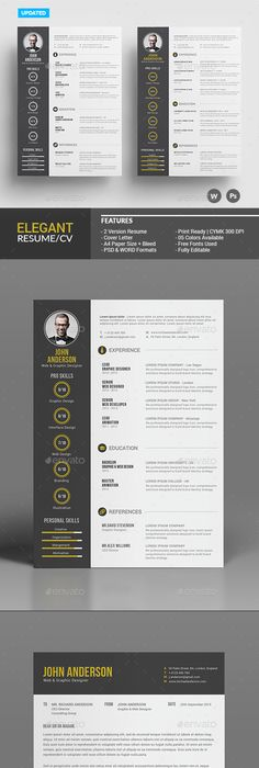 Resume Template  Template Cv Template And Resume Cv