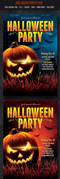Halloween Party Flyer Psd  Halloween Party Flyer Party Flyer