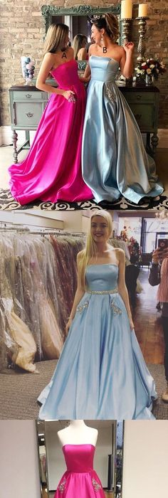 Simple Prom Dresses,Pink Prom Gowns,Lace Prom Dresses, White Lace ...