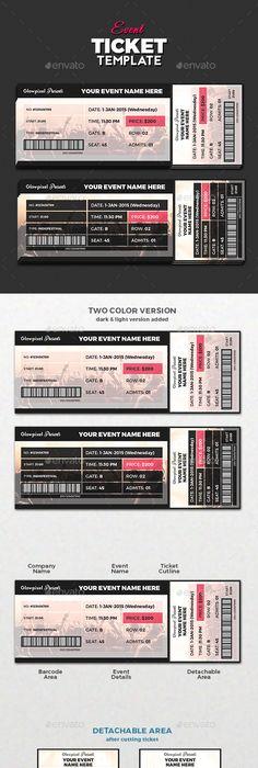 Event-Ticket-Template-for-Free u2026 u2026 Pinteresu2026 - fresh birthday invitation video templates