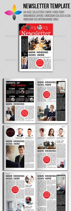 Newspaper 2 Pages Newsletter Templates Print Templates And Template