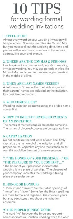Guide to Wedding Invitations Messages Invitation wording, Wedding - invitation non formal