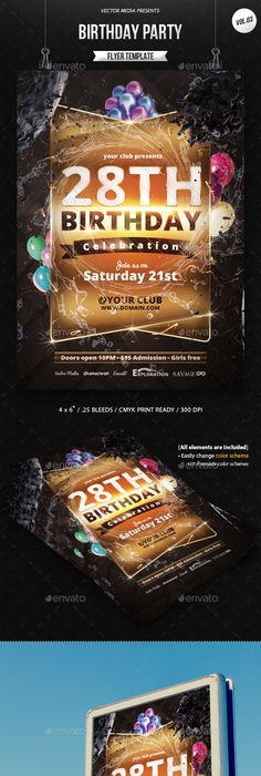 Beautifully Designed Psd Birthday Party Flyer Templates