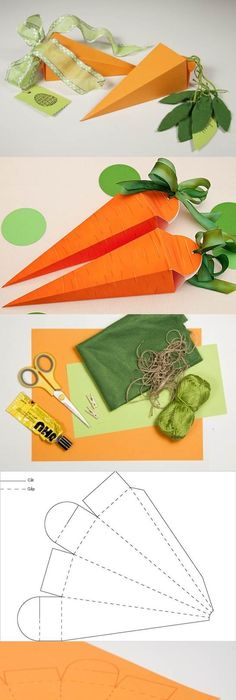 Pin by denise mingachos on enfeites para pscoa pinterest easter for easter baskets diy cute carrot shaped gift box solutioingenieria Choice Image