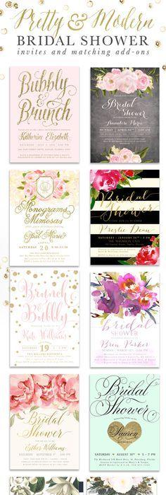 Rustic Floral Bridal Shower Invitation, Shabby Chic Invite ...