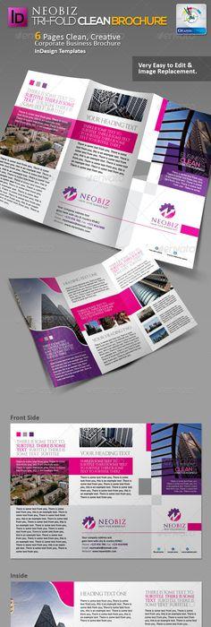 Tri Fold Brochure Template (Bundle) Tri fold brochure, Tri fold - trifold indesign template