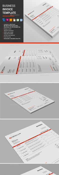 Striking Invoice Designs  Design Web And Business Cards