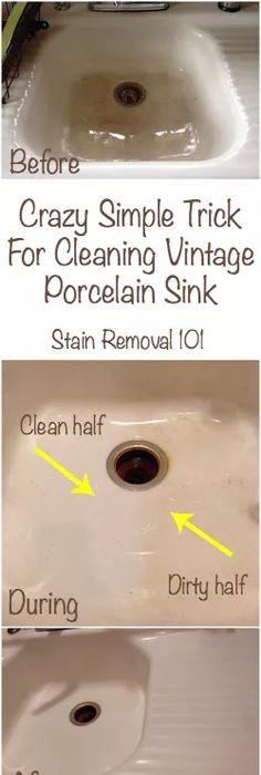 How To Clean Porcelain Sink: Simple, Easy U0026 Frugal Trick