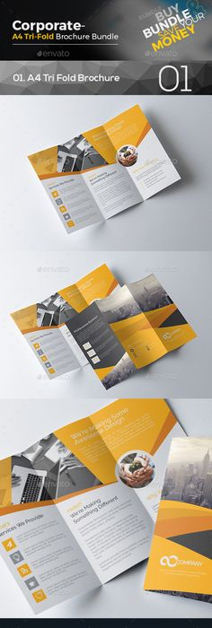 Stylish Square Tri Fold Brochure Template Pinterest Tri Fold