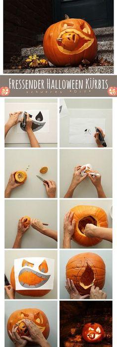 700 freie Last Minute Halloween Kürbis Schnitzen Vorlagen und Ideen ...