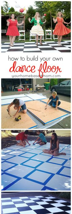 Hey, Let\'s Make a Dance Floor! Only $24 plus cost of paint for ...